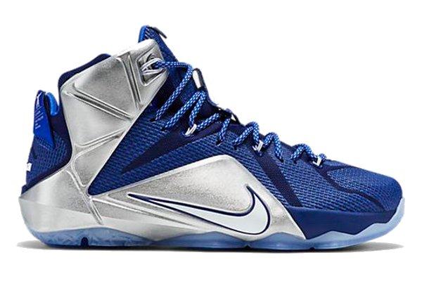 blue lebron james shoes