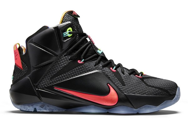 Name:NIKE LEBRON XII Color:Black/Bright Mango-Hyper Punch-Volt Style:684593-068. Release Date:12/20/2014. Price:$200. Exclusive:GR [Detailed Photos]