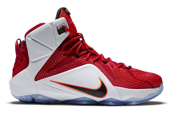 Name:NIKE LEBRON XII Color:University Red/Black-White-Hyper Crimson Style:684593-601. Release Date:10/30/2014. Price:$200. Exclusive:GR [Detailed Photos]