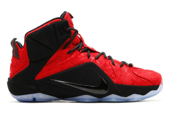 lebron red and black. name:nike lebron xii ext color:university red/university red-black-metallic gold style:748861-600. release date:06/27/2015. price:$250. exclusive:gr lebron red and black e