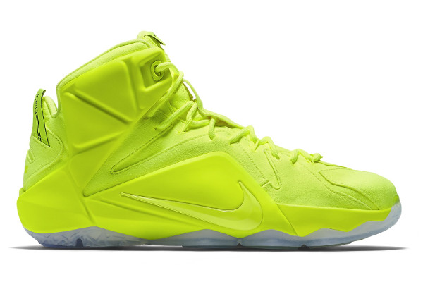 Name:NIKE LEBRON XII EXT Color:Volt/Volt-White Black Style: