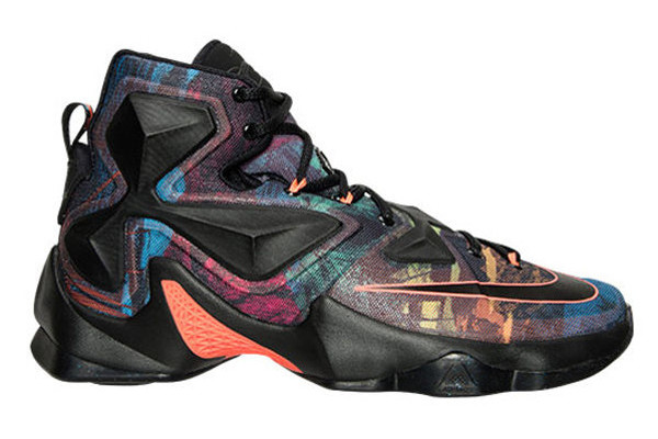 promo code 9a8ca e5c34 Name NIKE LEBRON XIII Color Black Black-Hyper Orange-Blue Lagoon  Style 807219-008. Release Date 11 21 2015. Price  200. Exclusive GR   Detailed Photos