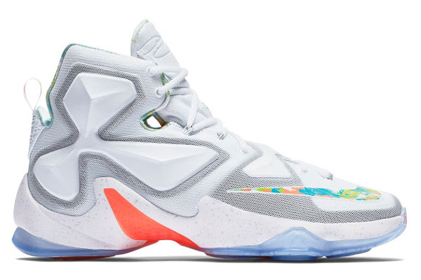 info for aef7e be798 Name NIKE LEBRON XIII Color White Pure Platinum-Bright Mango-Action Green  Style 807219-108. Release Date 03 25 2016. Price  200. Exclusive GR