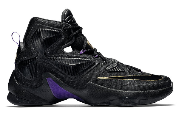 new product f0fb6 29b98 Name NIKE LEBRON XIII Color Black Black-Metallic Gold-Hyper Grape  Style 807219-007. Release Date 11 28 2015. Price  200. Exclusive GR   Detailed Photos
