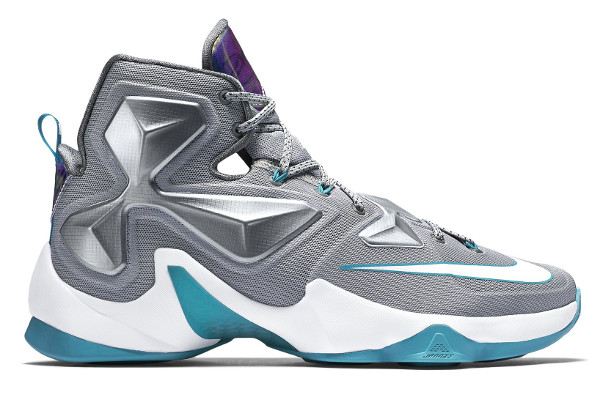 Name:NIKE LEBRON XIII Color:Wolf Grey/White-Blue Lagoon-Dark Grey  Style:807219-014. Release Date:12/12/2015. Price:$200. Exclusive:GR  [Detailed Photos]