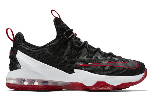 Name:NIKE LEBRON XIII LOW Color:Black/University Red-White Style:831925-061.  Release Date:05/01/2016. Price:$150. Exclusive:GR [Detailed Photos]