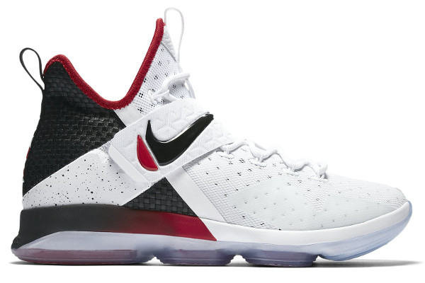 buy popular 06b07 b3b40 Name NIKE LEBRON XIV Color White Black-University Red Style 852405-103.  Release Date 05 05 2017. Price  175. Exclusive GR  Detailed Photos