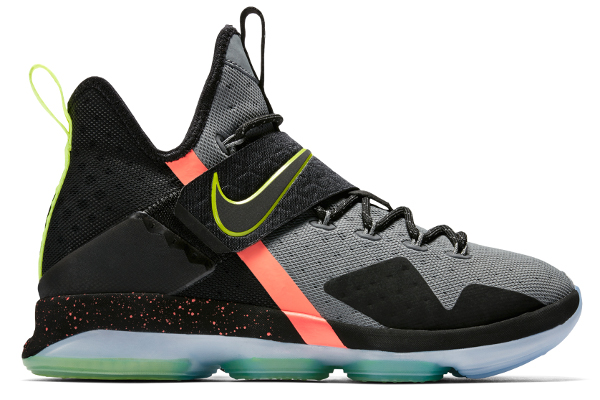 9693f950951 Name NIKE LEBRON XIV XMAS Color Black Volt-Cool Grey Style 852406-001.  Release Date 01 27 2017. Price  175. Exclusive Limited  Detailed Photos