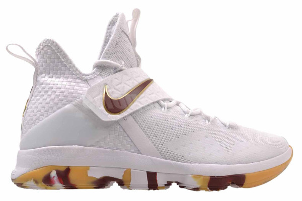 newest 0f071 6da23 NameNIKE LEBRON XIV ColorWhiteTeam Red-Gum Light Brown Style852405-104.  Release Date09012017. Price175. ExclusiveGR Detailed Photos