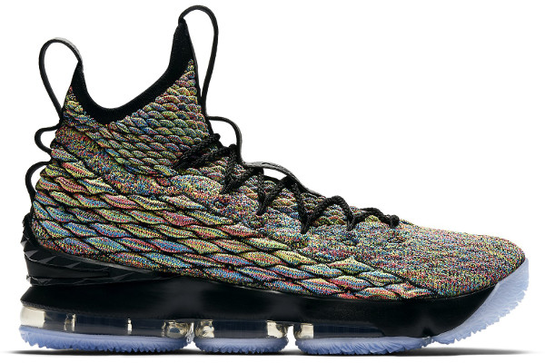 7722e68f3c33 Name NIKE LEBRON XV Color Multi-Color Black Style 897648-901. Release  Date 04 12 2018. Price  185. Exclusive GR  Detailed Photos