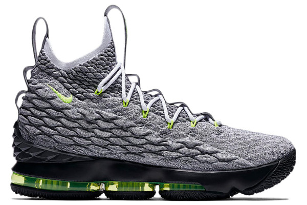 3c401b287f8a Name NIKE LEBRON XV KSA Color Cool Grey Volt-Wolf Grey Style AR4831-001.  Release Date 03 25 2018. Price  200. Exclusive LeBron Watch  Detailed  Photos