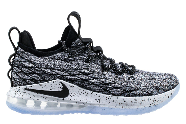 70e88529b5b LeBron 15 Low. Name NIKE LEBRON XV LOW Color Black White-Black  Style AO1755-002. Release Date 05 01 2018. Price  150. Exclusive GR   Detailed Photos