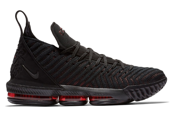 promo code 28578 bbffc Name NIKE LEBRON XVI Color Black Black-University Red Style AO2588-002.  Release Date 09 20 2018. Price  185. Exclusive GR  Detailed Photos