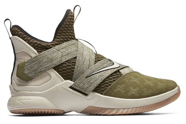 b3ba9ed4cae Name LEBRON SOLDIER 12. Color Olive Canvas String-Gum Light Brown Style  AO2609-300. Release Date 08 15 2018. Price  130. Exclusive GR
