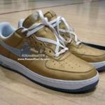 Nike Air Force 1 LeBron gold/white/grey sample