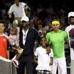 King's Feet: LeBron James and Dwyane Wade Meet Rafael Nadal