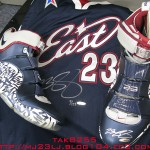 Upper Deck Autographed Nike Zoom LeBron IV All-Star PE with #23