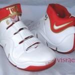 Nike Zoom LeBron IV White/Crimson/Gold PE