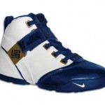 Nike Zoom LeBron V White and Navy available to order