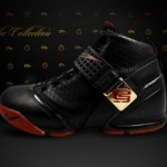 New Nike Zoom LeBron V Black and Crimson wallpaper