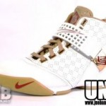 LeBron's Home Nike Zoom LeBron V White and Gold