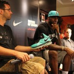 LeBron James Debuts the South Beach 8's. Grand Opening of Dadeland Mall House of Hoops Miami.