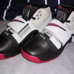 A look at the Black, Gray and Red LeBron Soldier