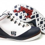 White and Navy LeBron Soldier II: Sample vs General Release