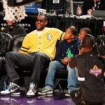LeBron James Rocking the Akron Six During 2009 NBA All-Star Festivities