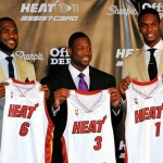 LeBron James & Wade & Bosh Welcoming Party with Miami Heat