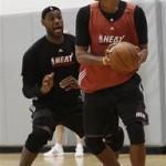 Miami Heat Team Practice. LeBron James & Nike Zoom Soldier IV.
