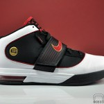 LeBron's Nike Zoom Soldier IV (4) Black White Red Showcase