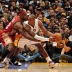 2007-08 NBA Season: CLE vs PHX, at LAL. LeBron Outduels Kobe.