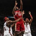 2007-08 NBA Season: CLE at MIL, BOS. LBJ hits 10,000.