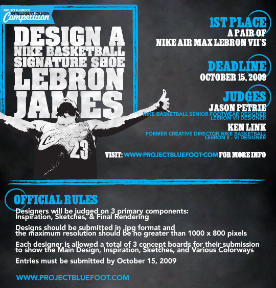 project bluefoot lebron james design competition with jp