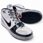 Autographed Witness Gold Nike Zoom LeBron VI Limited to 23