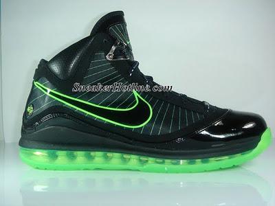 the latest 4c8c7 ea6aa Nike Air Max LeBron VII Black Mean Green – Dunkman Edition   NIKE LEBRON -  LeBron James Shoes
