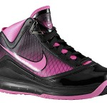 Black/Pink Fire Nike Air Max LeBron VII Available in Kids Sizes