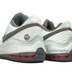 Nike LeBron VII Low 395717-103 White/Cool Grey-Team Orange