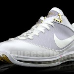 Real Nike Air Max LeBron VII Low – White and Gold Sample