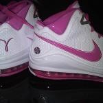 Nike Air Max LeBron VII PE: Breast Cancer Awareness (White)