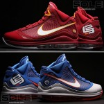 Nike Air Max LeBron VII Hardwood Classic Blue & CavFanatic PEs
