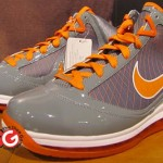 New Nike Air Max LeBron VII Grey / White / Orange Sample