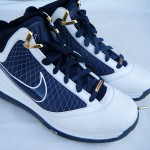 Nike Air Max LeBron VII (7) – White/Navy/Gold Sample Actual Photos