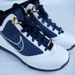 Nike Air Max LeBron VII (7) – White/Navy/Gold Sample Actual Photos