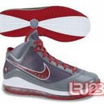 New Air Max LeBron VII Grey Patent CWs – Blue, Red and Orange.