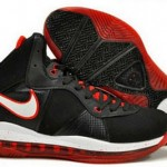 Nike Air Max LeBron VIII Black/White/Red Official Release Date