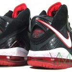 Nike Air Max LeBron VIII (8) GS – Black/White/Red – First Look