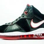 Nike Air Max LeBron VIII (8) – Black/White/Red – Detailed Photos