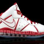 Nike Air Max LeBron 8 – White & Red China Alternate Miami Heat